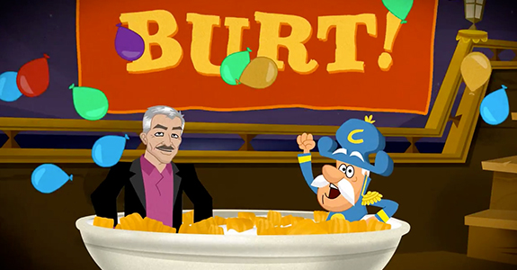 Cap'n Crunch and Burt Reynolds