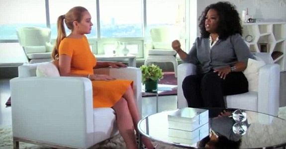 Oprah Winfrey and Lindsay Lohan