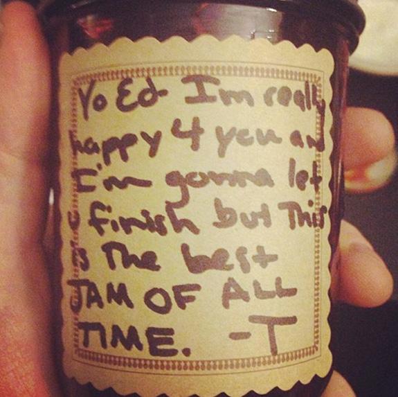 Taylor Swift Jam Gift to Ed Sheeran