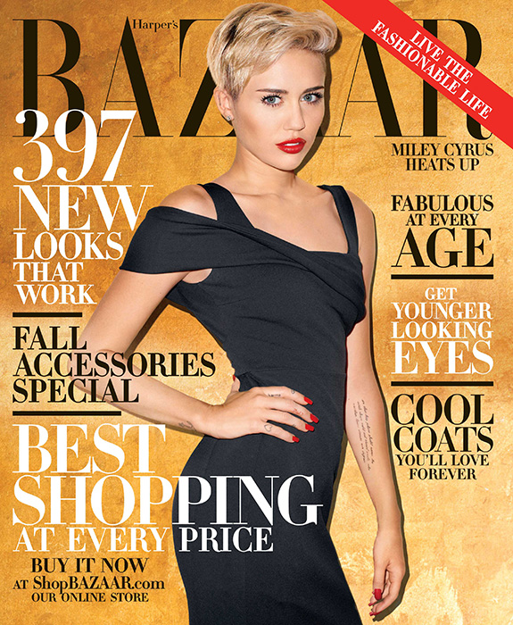 Miley Cyrus | Harper's Bazaar October 2013