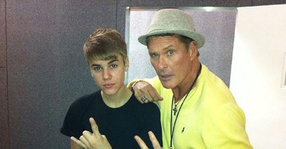 Justin Bieber and David Hasselhoff