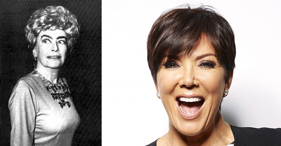 Joan Crawford and Kris Jenner