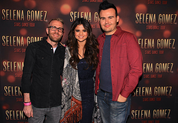 Michael Knudsen, Selena Gomez and Mike Wass