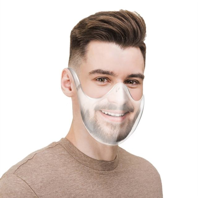 Fast Delivery Masque Máscara 2020 Durable Mask Face Shield Combine Plastic Reusable Clear Face Mask Bandage