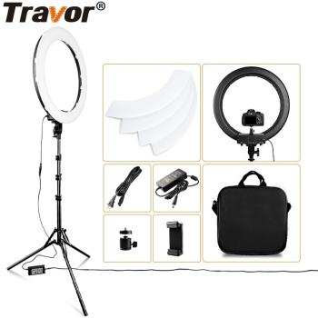 LED Ring Light 18 Inch Ring Lamp Photo light ring With Tripod Phone holder for YouTube makeup Studio photography ringligt