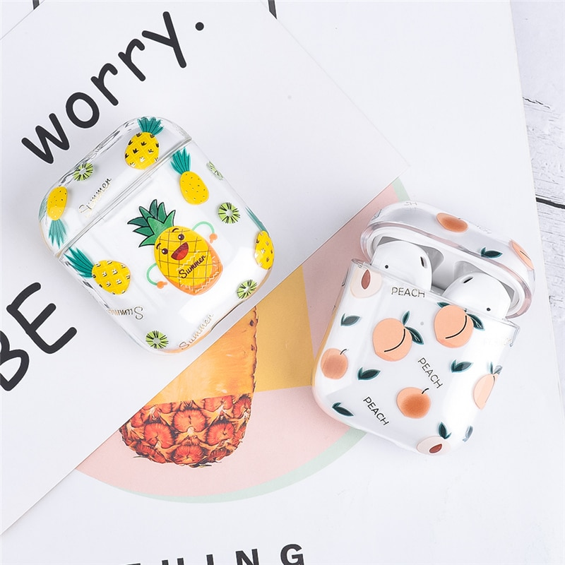 For AirPods Case Flower Transparent Clear Hard Plastic Wireless Bluetooth Earphone Cases For Apple Airpods 2 1 Cover Funda