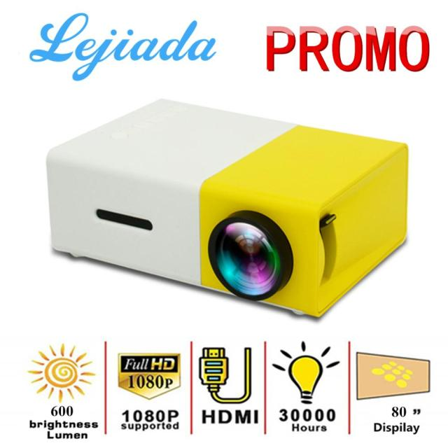 LED Mini Projector 480×272 Pixels Supports 1080P HDMI USB Audio Portable Projector Home Media Video player