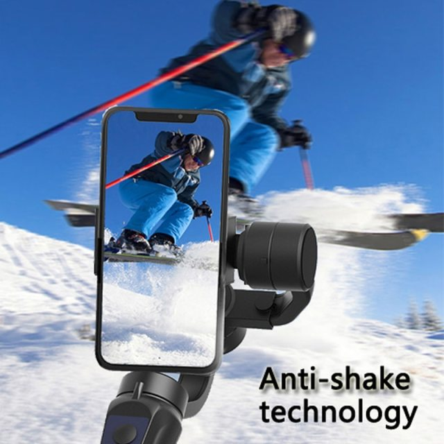 3 Axis USB Charging Video Record Support Universal Adjustable Direction Handheld Gimbal Smartphone Stabilizer Vlog Live