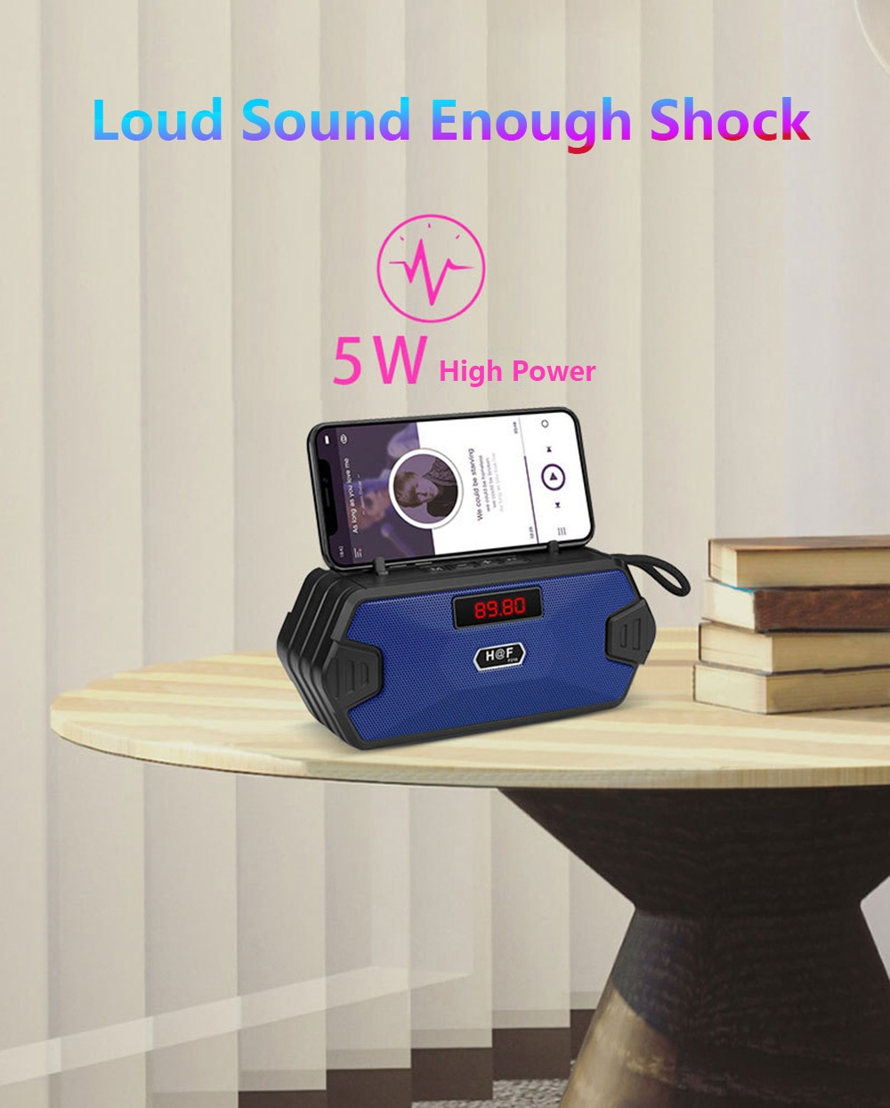 Portable Bluetooth Speaker Wireless Bass Column Outdoor USB Speakers With FM Radio AUX TF MP3 Subwoofer Loudspeaker For Phone PC