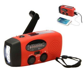 2021 Multifunctional Hand radio Solar Crank Dynamo Powered AM/FM/NOAA Weather Radio Use Emergency LED Flashlight and Power Bank