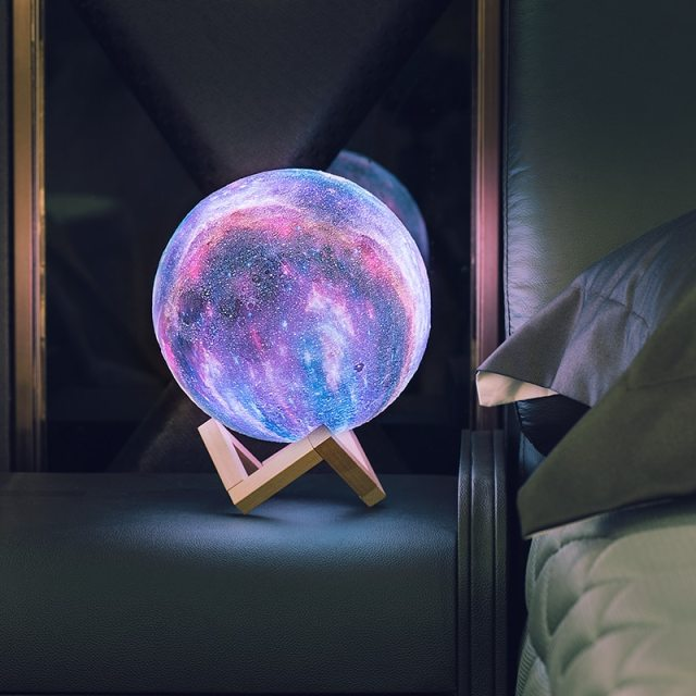 16 Colors 3D Printing Moon Lamp Galaxy Moon Light Change Touch and Remote Control  USB Charger