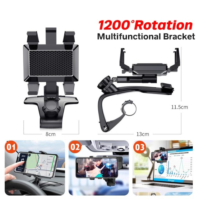 🔥Sale 🔥70% off 🔥 Car Dashboard Phone Holder 1200 Degree Mobile Phone Stands GPS Navigation Bracket
