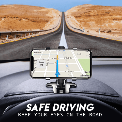 save driving-Car Dashboard Phone Holder