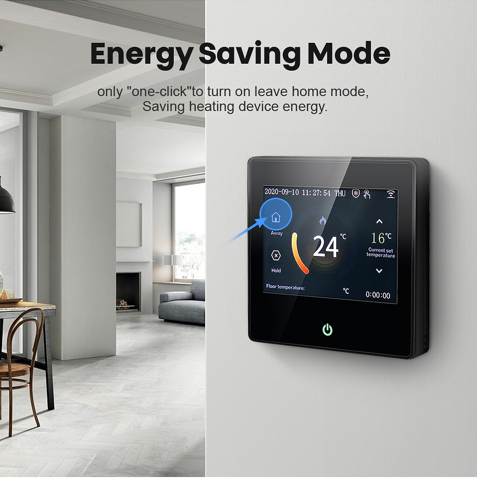 AVATTO WiFi Smart Thermostat Heating Temperature Controller with Celsius/Fahrenheit LED Touch Screen Work with Alexa Google Home