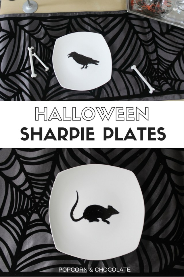Halloween Sharpie Plates | Popcorn & Chocolate