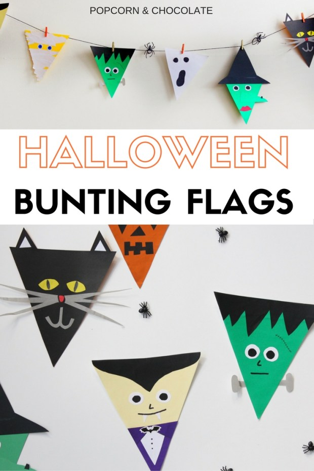 Halloween Bunting Flags | Popcorn & Chocolate