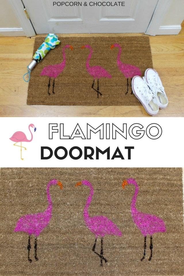 Summer Pink Flamingo Painted Doormat We Re Going To Make It