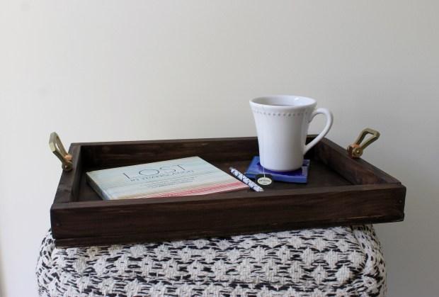 Wooden Tray with Door knob handles   Popcorn & Chocolate