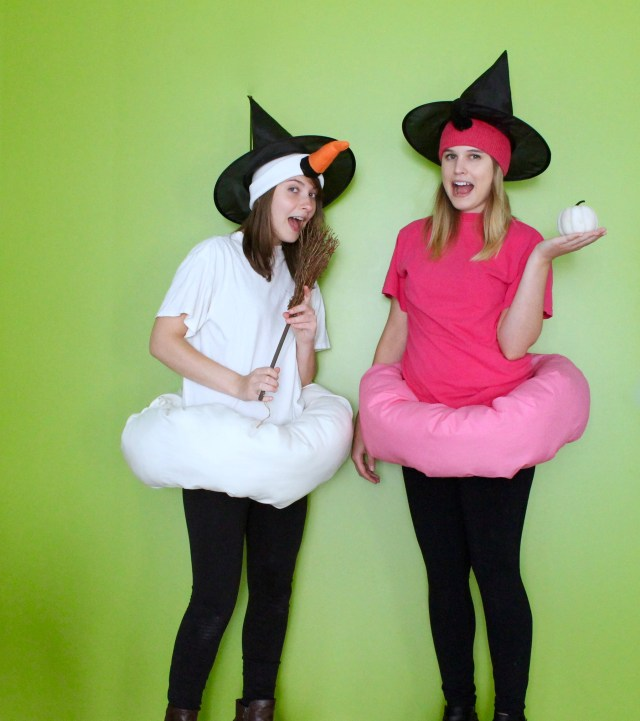 Flamingo and swan pool float Halloween costume | Popcorn & Chocolate
