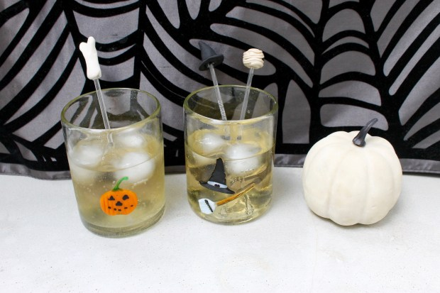 Easy Halloween Sculpey Drink Stirrers | Popcorn & Chocolate