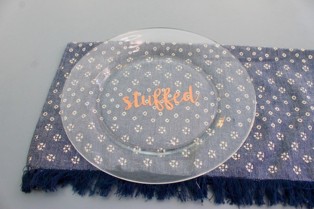 Copper stuffed Thanksgiving dinner plates