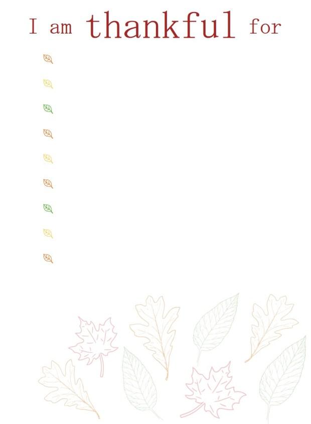 Thankful Printable | Popcorn & Chocolate