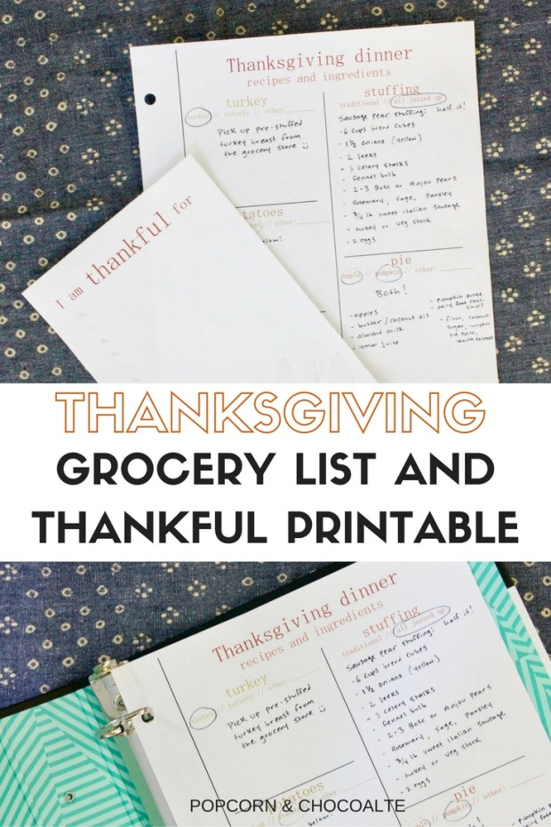 Free Thanksgiving Printables | Popcorn & Chocolate