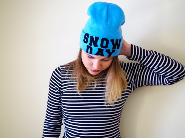 DIY slogan beanie | Popcorn and Chocolate