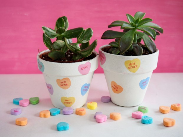 Valentine's Day Candy Heart Pot | Popcorn and Chocolate