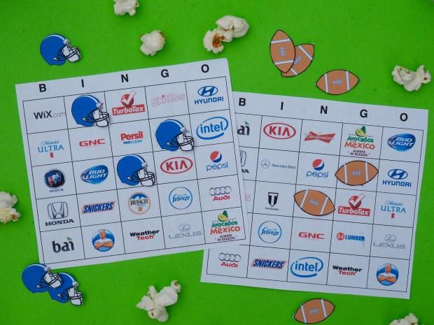 Printable super bowl bingo cards