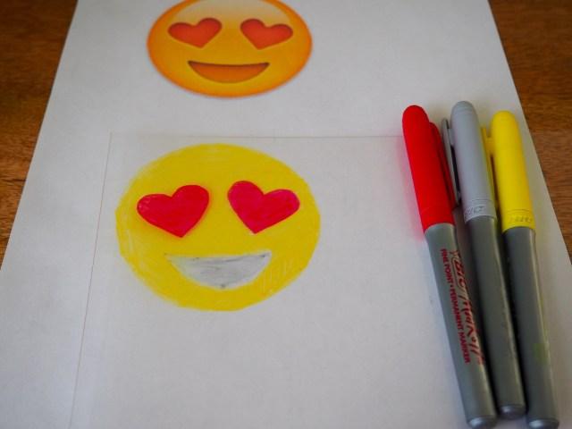 DIY emoji shrinky dink pin | Popcorn and Chocolate