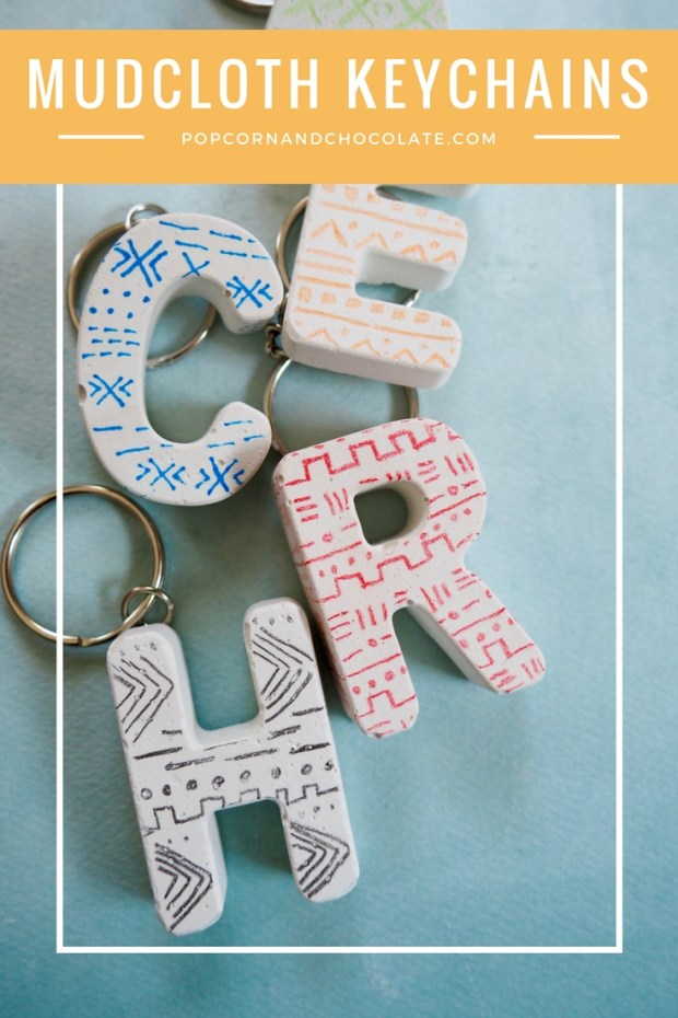 DIY Mudcloth Inspired Keychains Made From Plaster | Popcorn and Chocolate