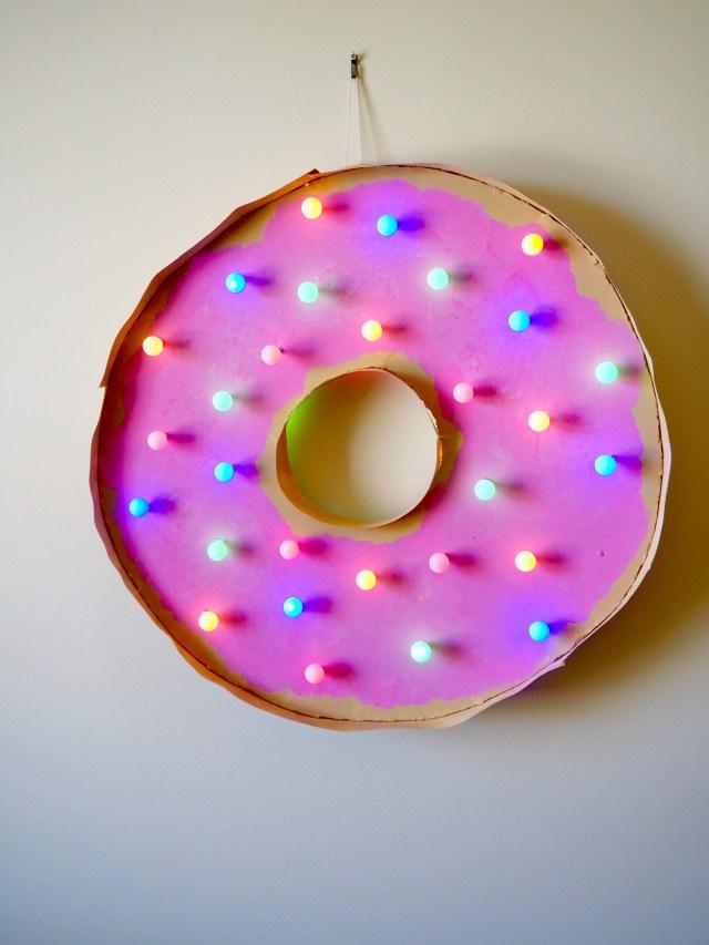 DIY Doughnut Marquee | Popcorn and Chocolate