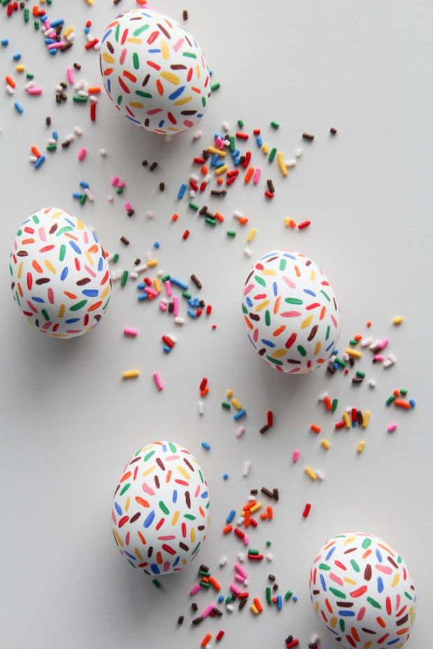 DIY sprinkle easter eggs