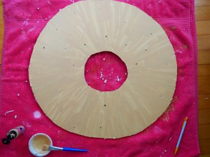 How to make a doughnut marquee by Popcorn and Chocolate
