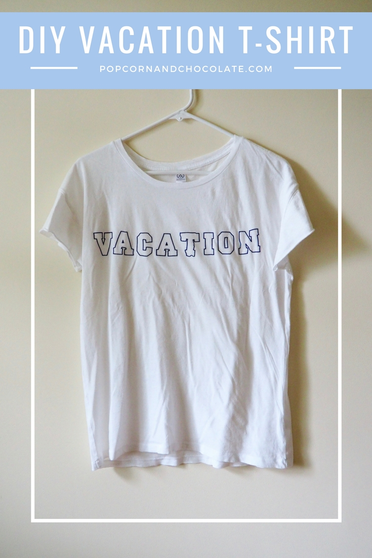 DIY Faux embroidered vacation t-shirt   Popcorn and Chocolate