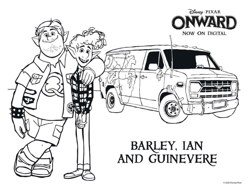 Pixar Onward Coloring Pages