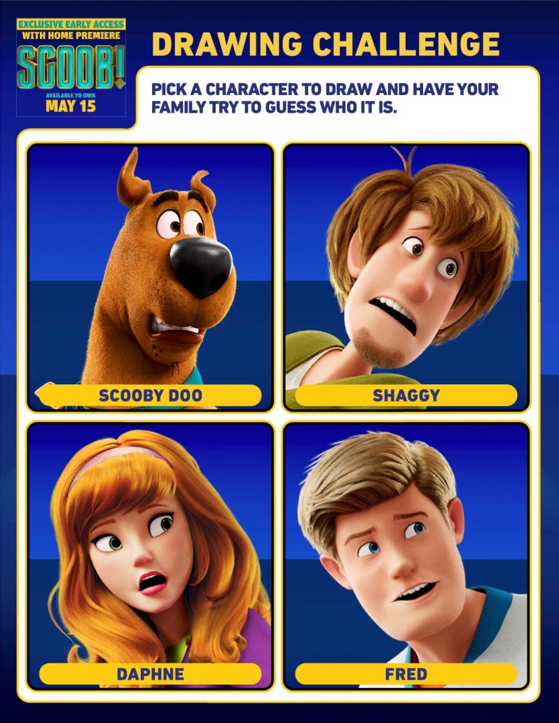SCOOB Activity Sheets Drawing Challenge