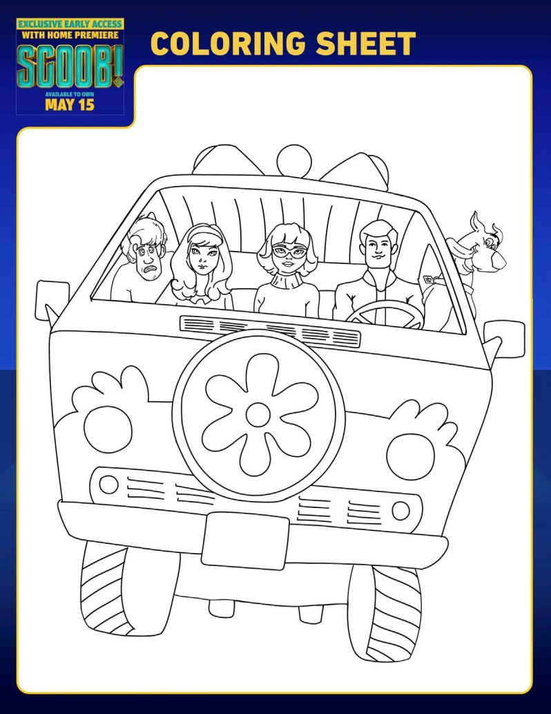 SCOOB Coloring Pages Mystery Van