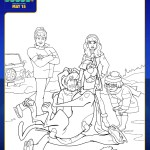 SCOOB Coloring Pages Scooby And The Gang