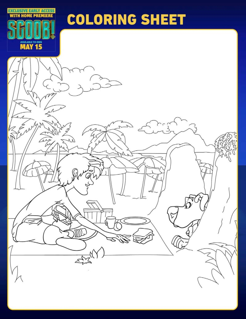 SCOOB Coloring Pages Shaggy And Scoob
