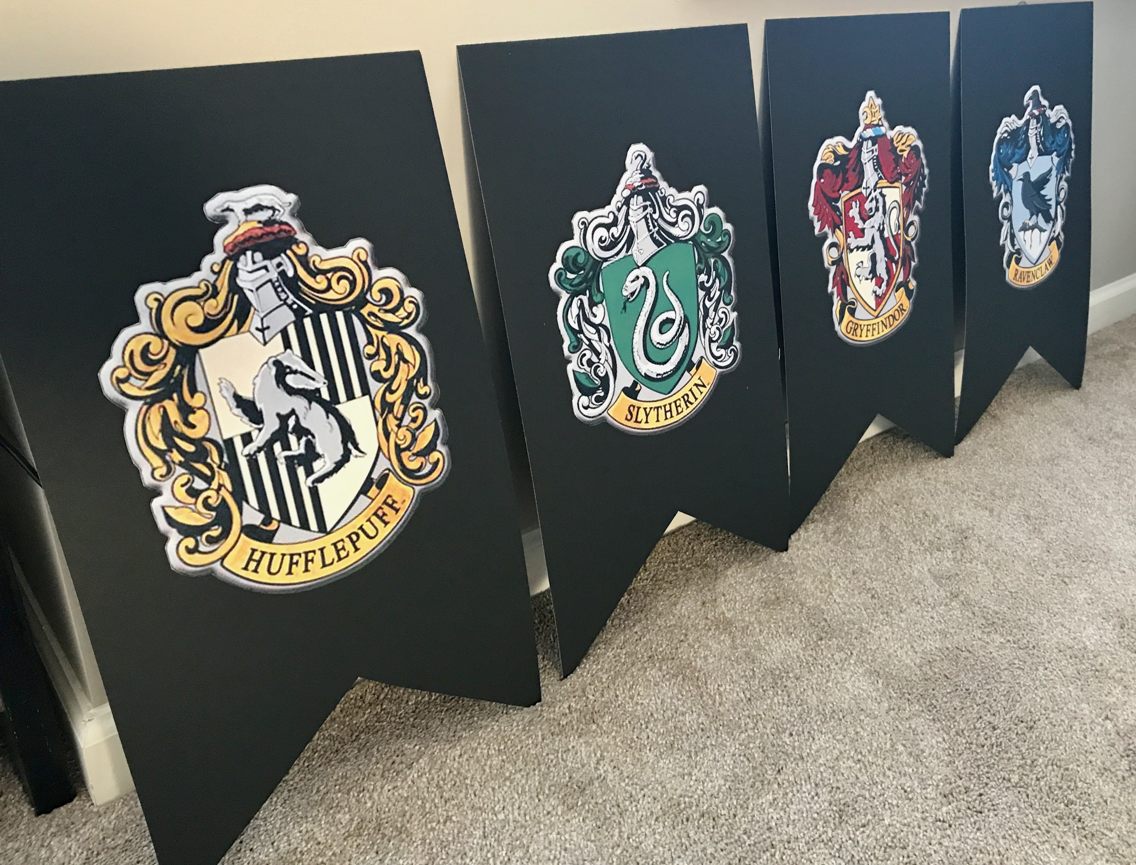 image about Harry Potter House Banners Printable called Hogwarts Residence Banners Printable - 12 months of Contemporary H2o
