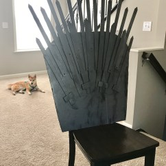Iron Throne Chair Cover Round With Ottoman Make Your Own For Under 25 Popcorner Reviews Anzu