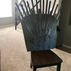 Iron Throne Chair Cover Jazzy Power Charger Make Your Own For Under 25 Popcorner Reviews Diy Game Of Thrones