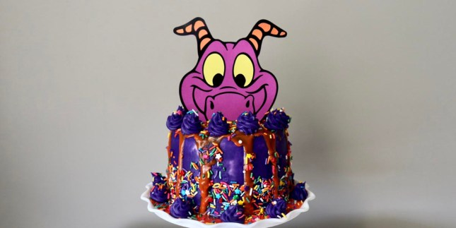 Journey Into Imagination with this Figment Drip Cake