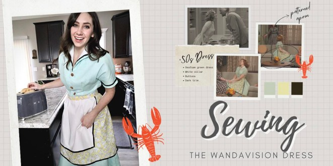 Making Wanda's 1950s House Dress Costume from WandaVision