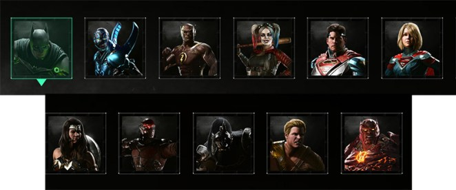 Injustice 2 Personnages