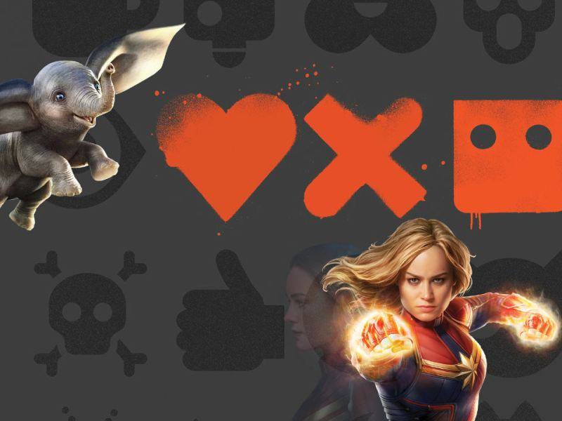 podcast popcorn game Dumbo, Us, The 12th man, Love, Death + Robots & Captain Marvel