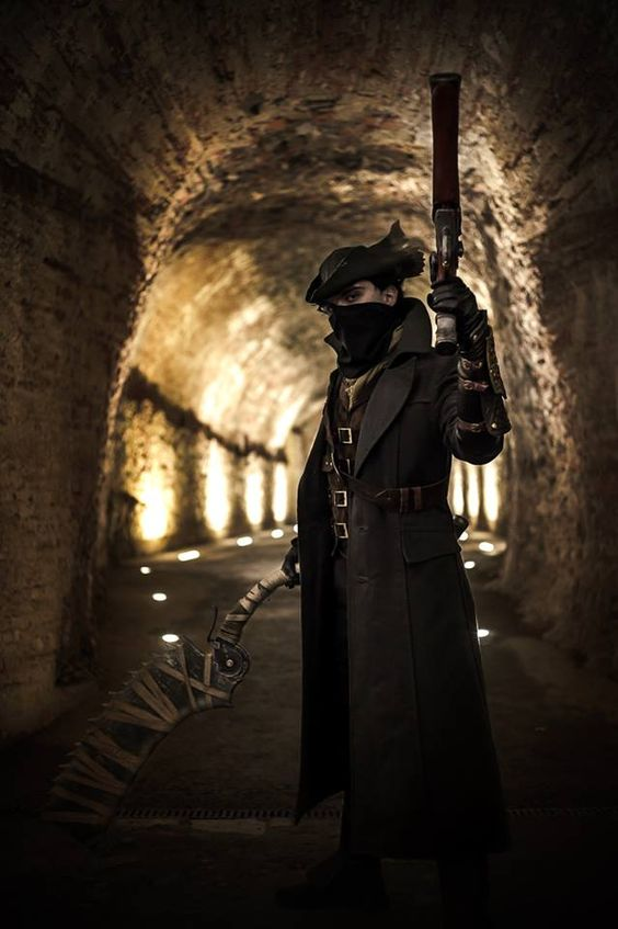 jeux video heros masqués - Bloodborne - The Hunter - cosplay