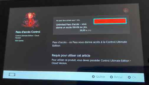 control nintendo switch prix
